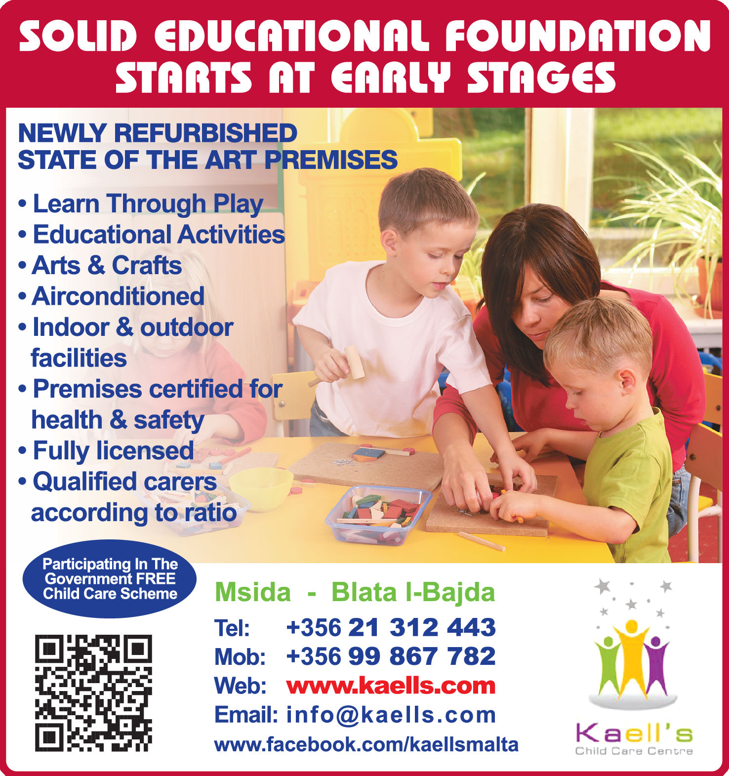 Kaell's Child Care Centre - Childcare Centres