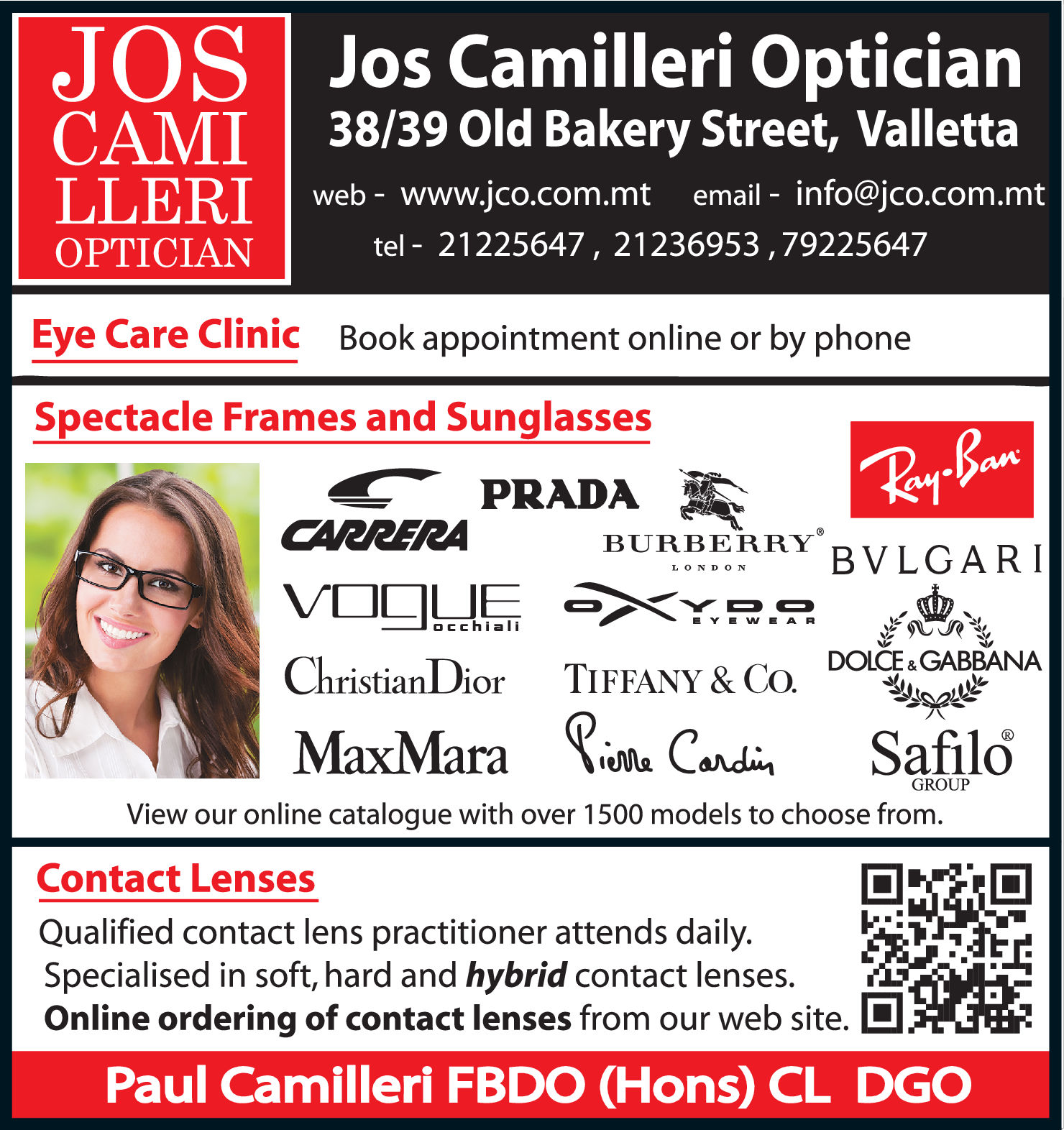 Camilleri Jos Optician - Opticians-Dispensing